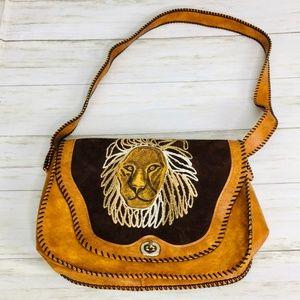 VINTAGE: Lion Shoulder Bag